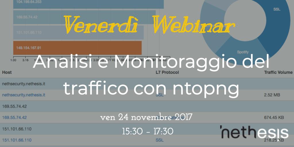 Best Practice: Analisi E Monitoraggio Del Traffico Con Ntopng