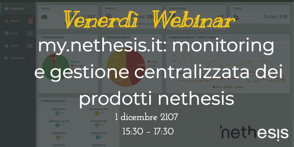 my.nethesis.it: monitoring e gestione centralizzata dei prodotti nethesis